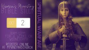 Women's Bible Study - Spiritual Warfare @ Children's Church Area at Vineyard Christian Church